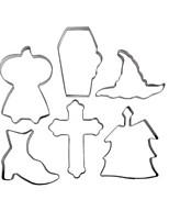 Недорогие -6шт Нержавеющая сталь Halloween Необычные гаджеты для кухни Десертные инструменты Инструменты для выпечки