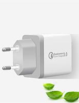 Недорогие -qc3.0 3-портовый адаптер питания для зарядного устройства USB для xiaomi / huawei / samsung