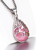Недорогие -новый горячий лунный свет опал капля воды тотем кулон ожерелье 40-51 см коробка ожерелье женская ожерелье с изысканными упаковочные коробки