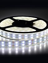 Недорогие -5м гибкий двойной слой светодиодные полосы / RGB полосы света / струнные светильники 600 светодиодов smd5050 теплый белый / RGB / белый водонепроницаемый / вечеринка / декоративные 12 В 1 шт.