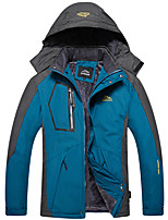 cheap -Men's Hiking Jacket Ski Jacket Winter Outdoor Solid Color Waterproof Windproof Breathable Warm Winter Jacket Single Slider Hunting Ski / Snowboard Fishing Black Red Army Green Blue Light Blue