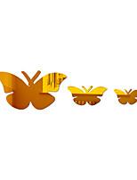 cheap -Animals/Butterflies / Fairies Wall Stickers Mirror Wall Stickers Decorative Wall Stickers, Acrylic Home Decoration Wall Decal Wall Decoration 3pcs