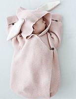 Недорогие -Дети (1-4 лет) Девочки Классический Rabbit Однотонный Halloween Животная расцветка Пижамы Розовый