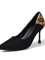 Недорогие -Жен. Обувь на каблуках На шпильке Заостренный носок Полиуретан На каждый день Осень Черный / Леопард