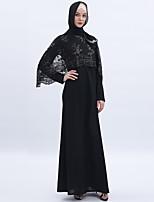 Недорогие -арабский Взрослые Жен. Косплей На каждый день Косплэй Kостюмы Арабское платье хиджаб Назначение Для вечеринок Halloween Ледяной шелк Вышивка Хэллоуин Карнавал Маскарад Платье
