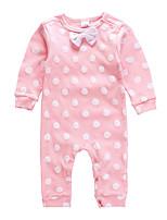 Недорогие -малыш Девочки Активный / Классический Горошек С принтом Длинный рукав 1 предмет Розовый