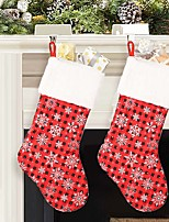 Недорогие -новогоднее украшение чёрный красный снежинка рождественские носки подарочная сумка рождественский кулон орнамент
