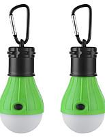 Недорогие -2шт 3 Вт водонепроницаемый / творческий / с регулируемой яркостью белого света на батарейках наружное освещение / бассейн / открытый свет кемпинга крюк портативный светодиодный свет палатки мини свет