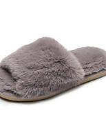 Недорогие -Женские тапочки / Тапочки для девочек Шлепанцы / Тапочки для гостей / Домашние тапки На каждый день Искусственный мех Один цвет Обувь