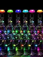 Недорогие -лампа украшения бутылки вина / 80см гирлянда 9 светодиодов автоматическое изменение цвета водонепроницаемый / солнечный / новый дизайн на солнечной энергии 6 шт