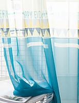 Недорогие -Modern Прозрачный 2 шторы Прозрачный Спальня   Curtains / Жаккардовое переплетение