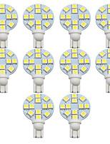 Недорогие -10шт лампы накаливания t10 автомобиля 1 Вт smd 5050 200 лм 12led огни номерного знака / рабочие фары / задние фонари для универсального мстителя / Elysee / 9-5