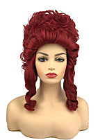 cheap -Princess Cosplay Wigs Women's Shaggy / Shag 12 inch Bouncy Curl Red Anime Wig