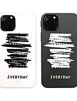cheap -Case For Apple iPhone 12 / iPhone 12 Mini / iPhone 12 Pro Max Shockproof / Dustproof Back Cover Word / Phrase TPU
