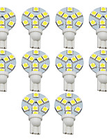 Недорогие -10 шт. T10 Автомобиль Лампы 1 W SMD 5050 200 lm 9 Светодиодная лампа Подсветка для номерного знака / Рабочее освещение / Задний свет Назначение Универсальный Avenger / Elysee / 9-5