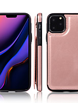 cheap -Case For Apple iPhone 11 / iPhone 11 Pro / iPhone 11 Pro Max Card Holder Full Body Cases Solid Colored PU Leather / TPU