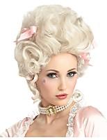 Недорогие -Аксессуары для костюмов Маскарадные парики Кудрявый Marie Antoinette Стиль Стрижка каскад Без шапочки-основы Парик Золотистый Платиновый блондин Искусственные волосы 14 дюймовый Жен.