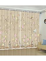 Недорогие -классический цветок и птица цифровая печать 3d занавес тень занавес высокой точности черный шелк ткань высокого качества первоклассный оттенок спальня гостиная занавес