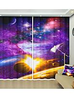 Недорогие -3d разноцветные туманность волшебный космический блеск 3d цифровые печатные занавес творческий затенение занавес высокой точности черный шелк ткань высокого качества первого класса с