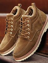 Недорогие -Муж. Армейские ботинки Полиуретан Зима Туфли на шнуровке Ботинки Черный / Верблюжий / Синий
