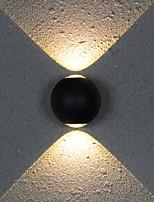 Недорогие -коридор отеля круглый шар 6w четырехсторонний светодиодный декоративный настенный светильник