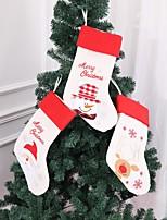Недорогие -1 шт. Рождественский подарок сумки висит елочка украшения елочные чулки носок санта