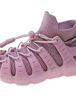 Недорогие -Девочки Удобная обувь Трикотаж Спортивная обувь Маленькие дети (4-7 лет) Беговая обувь Желтый / Красный / Розовый Лето