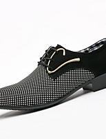 Недорогие -Муж. Комфортная обувь Полиуретан Наступила зима Туфли на шнуровке Черный / Синий
