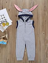 Недорогие -малыш Девочки Активный / Классический Однотонный Без рукавов 1 предмет Серый