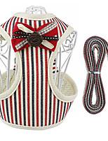 cheap -Dog Cat Harness Vest Adjustable Flexible Breathable Durable Outdoor Walking Stripes Nylon Corgi Pug Bichon Frise Schnauzer Poodle Chihuahua Red Gray 1pc
