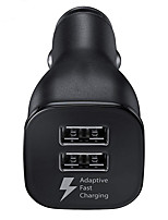 Недорогие -Оригинальное автомобильное зарядное устройство Samsung Dual USB адаптивный быстрый адаптер для Galaxy S6 S7 S8 S9 плюс примечание 4 8 9 10
