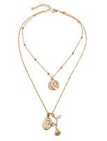 Недорогие -Жен. Ожерелья с подвесками длинное ожерелье Художественный Романтика Этнический Богемный Хром Золотой Серебряный 50 cm Ожерелье Бижутерия 1шт Назначение
