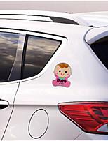 Недорогие -милый ребенок предупреждение автомобильные наклейки ребенок в машине светоотражающие наклейки магнитные наклейки водонепроницаемый и прочный хорошее качество автомобиля