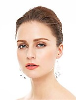 cheap -Women's Hoop Earrings Classic Lucky Earrings Jewelry White For Wedding