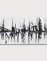 Недорогие -Hang-роспись маслом Ручная роспись - Пейзаж Абстрактные пейзажи Modern Включите внутренний каркас