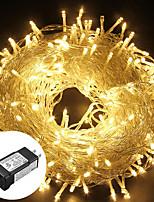 Недорогие -100м гирлянда низкого давления 800 светодиодов теплый белый / белый / синий / RGB / непромокаемый / вечеринка / рождество / обстановка во дворе / наружная декоративная 24v безопаснее без удара током /