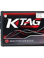 Недорогие -Programador KTAG 7.020 Ecu чип-тюнинг инструмент программирования без ограничения токена онлайн EU Red Master версия K-Tag