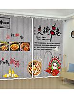 Недорогие -творческая цифровая печать китайской кухни культура шаблон 3d занавес тень занавес высокой точности черный шелк ткань высокого качества первый класс занавес тени