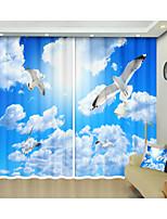 Недорогие -белый голубь голубое небо белое облако цифровая печать творческий 3d занавес тень занавес высокой точности черный шелк ткань высокого качества первый класс занавес тени