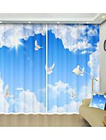 Недорогие -голубое небо и белый голубь цифровая печать творческий 3d занавес тень занавес высокой точности черный шелк ткань высокого качества первоклассный занавес тени