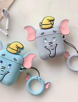Недорогие -Слон применимые airpods беспроводная гарнитура bluetooth набор творческих dumbo apple силиконовый сплит защитный чехол 1 шт.