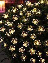 Недорогие -5м вишнёвые струнные светильники 20 светодиодов 1set монтажный кронштейн теплый белый / RGB / белый / синий / непромокаемый / солнечный / наружный ночной светильник / милый солнечный 1 комплект