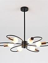 Недорогие -6-головочная люстра из металла в нордическом стиле современная гостиная столовая спальня подвесные светильники с лампами e26 / 27