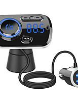 Недорогие -QC3.0 быстрая зарядка громкой связи беспроводной автомобильный комплект Bluetooth FM-передатчик радио mp3-плеер Dual USB зарядное устройство