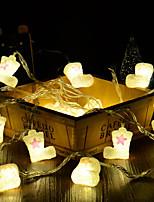 Недорогие -Рождественская форма загрузки лампы лампа 4 м 20led хэллоуин украшения фестиваль украшения аа батареи питания 1 шт.