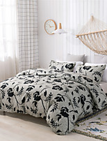cheap -Black Flower Print 3 Pieces Bedding Set Duvet Cover Set Modern Comforter Cover-3 Pieces-Ultra Soft Hypoallergenic Microfiber Include 1 Duvet Cover and 1 or2 Pillowcases