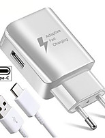 cheap -USB Charger EU Plug Fast Adapter Charging Travel Wall Chargers For Samsung Huawei Xiaomi OPPO Vivo TypeC Micro USB Data Cable