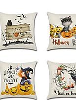 Недорогие -мультфильм хэллоуин тыква кошка ворон ведьма печать наволочка подушки 45 * 45 см бросить наволочку диван декор для дома аксессуары