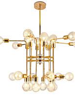 Недорогие -24 светильника роскошные золотые люстры в стиле свечей европейские современные светильники для гостиной столовой магазины кафе светодиодные лампы g9 не включены