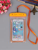 abordables -Étui lumineux étanche à l'eau de natation gadget plage sac sec housse de téléphone couverture camping support de ski pour téléphone portable 3.5-6 pouces